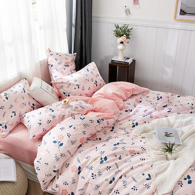 2019新款-棉加绒轻奢风泫雅风保暖四件套 床单款四件套1.5m(5英尺)床 瑰蜜