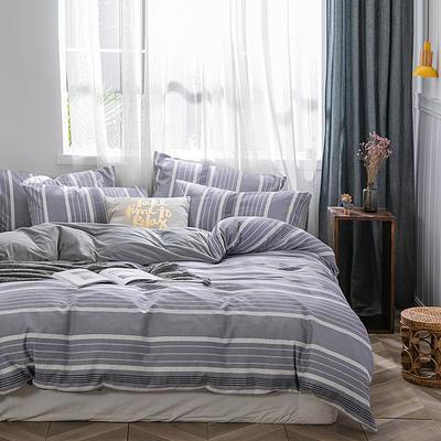 2019新款-棉加绒轻奢风泫雅风保暖四件套 床单款四件套1.5m(5英尺)床 罗伊