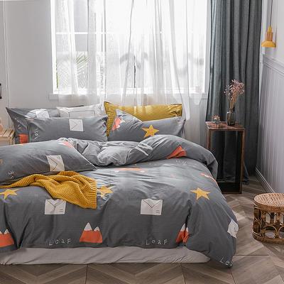 2019新款-棉加绒轻奢风泫雅风保暖四件套 床单款四件套1.5m(5英尺)床 旅途