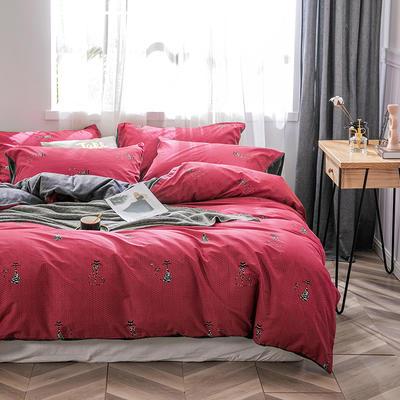 2019新款-棉加绒轻奢风泫雅风保暖四件套 床单款四件套1.5m(5英尺)床 魅影