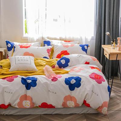 2019新款-棉加绒轻奢风泫雅风保暖四件套 床单款四件套1.5m(5英尺)床 夏娜