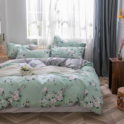 2019新款-棉加绒轻奢风泫雅风保暖四件套 床单款四件套1.5m(5英尺)床 伊人