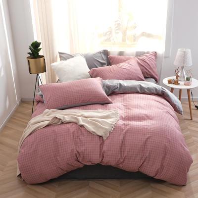 2020新款-超柔磨毛+水晶绒绒四件套 床单款四件套1.5m(5英尺)床 格兰甜心-红