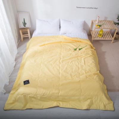 2020新款-水洗棉夏被 单夏被200X230cm 柠檬黄