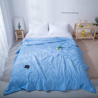 2020新款-水洗棉夏被 单夏被200X230cm 中蓝