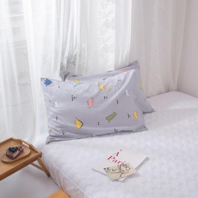 2020新款-ins全棉枕套 48x74cm/一对 卡路里-灰