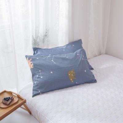 2020新款-ins全棉枕套 48x74cm/一对 星澜
