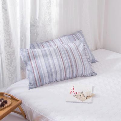 2020新款-ins全棉枕套 48x74cm/一对 韵-灰