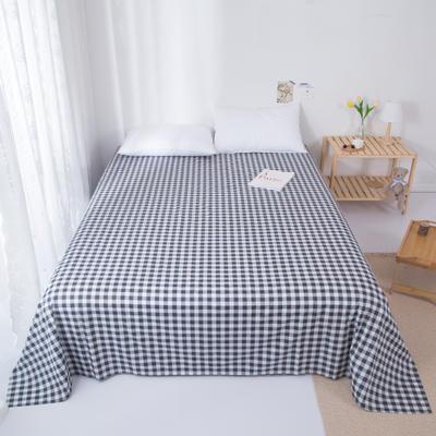 2020新款-ins网红风全棉床单 230x250cm 黑白格
