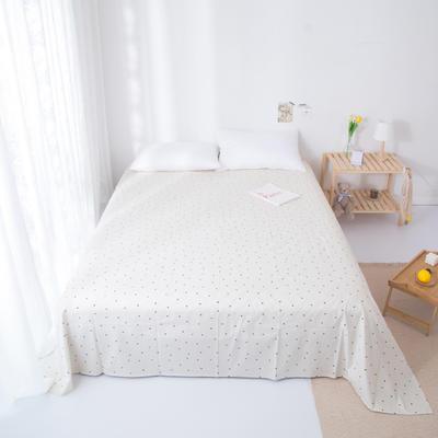 2020新款-ins网红风全棉床单 230x250cm 蓝调-黄