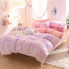 3D雕花宝宝绒保暖四件套系列 标准(1.5-1.8m)床 伊人花醉-紫