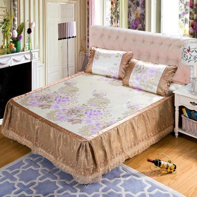 蕾丝床裙款三明治冰丝席 1.5米床 富丽华莎-金色