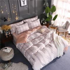 轻奢巴黎雕花绒四件套 1.5-1.8m床(床单四件套) 机灵猫-驼