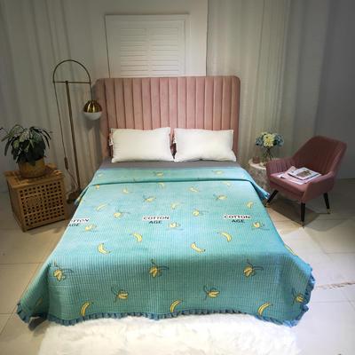 2019新款水晶绒夹棉多功能床盖 200cmx230cm 香蕉派-绿