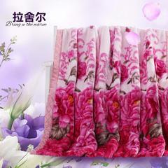 拉舍尔毛毯   秋冬拉舍尔婚庆 加厚毛毯约5.6斤  180*200cm 180*200cm 姹紫嫣红