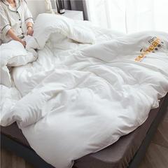 大豆纤维被芯双人夏被床上用品加厚纯棉被子冬被 150x200cm/5斤 白色