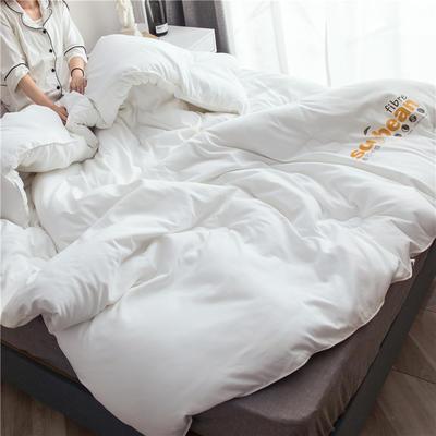 大豆纤维被芯双人夏被床上用品加厚纯棉被子冬被 200X230cm/7斤 白色