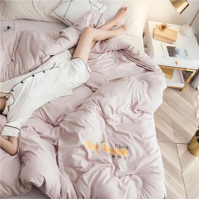 大豆纤维被芯双人夏被床上用品加厚纯棉被子冬被 200X230cm/7斤 卡其色