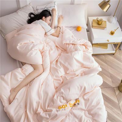 大豆纤维被芯双人夏被床上用品加厚纯棉被子冬被 200X230cm/7斤 玉色
