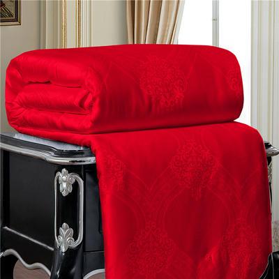 蚕丝被桑蚕丝空调冬被子母被手工被芯包质检 110*150cm/2斤 红色