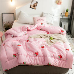 全棉棉花被春秋被学生被芯被子单人双人保暖加厚冬被 150x200cm/4斤 小草莓