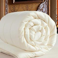 羊毛被澳毛被芯春秋被双人被子被芯棉被保暖加厚冬被 150x200cm/5斤 米色