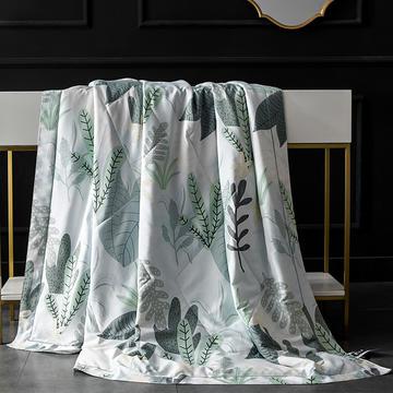 竹节棉夏被夏天可水洗天丝冰丝空调被