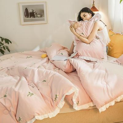 2019新款-ins风公主甜心冬被被子被芯公主被荷叶边被芯少女风 150*200cm4斤 小雏菊-粉