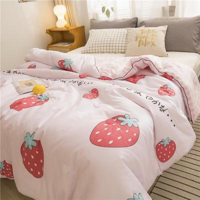 2019新款-全棉健康冬被被子被芯 150*200cm4斤 阳光草莓粉