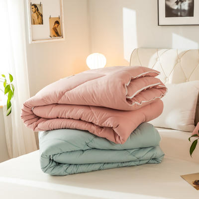 2019新款潮流炫彩子母冬被被子被芯 150*200cm6斤 粉色