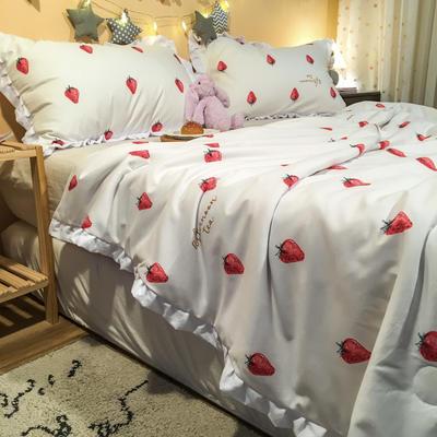 2020新款公主甜心夏被 150x200cm 草莓甜心-白
