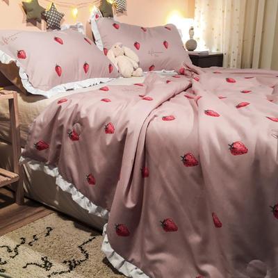 2020新款公主甜心夏被 200X230cm 草莓甜心-粉