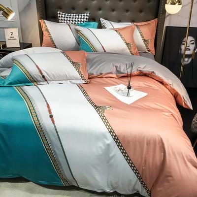 2020新款针织棉四件套 1.8m床单款四件套 欧斯密1