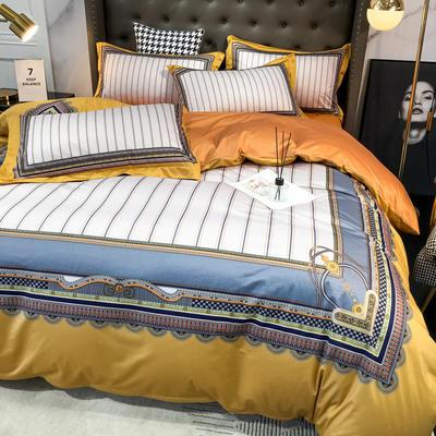 2020新款针织棉四件套 1.8m床单款四件套 辛德拉丝