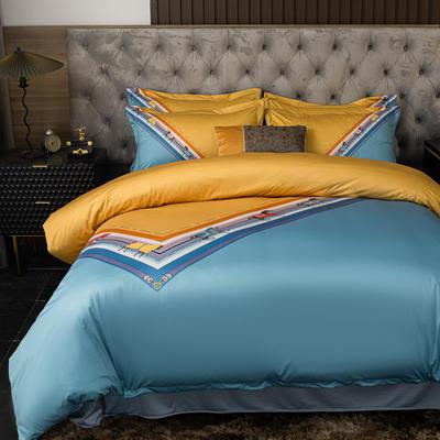 2020新款针织棉四件套 1.8m床单款四件套 艾马仕条