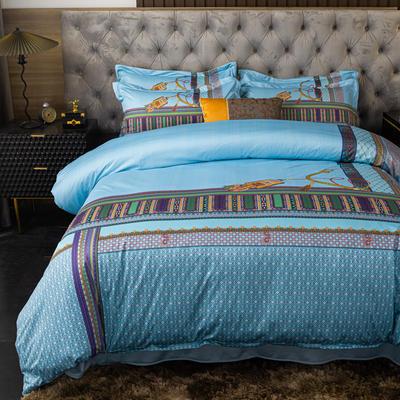 2020新款针织棉四件套 1.8m床单款四件套 帝凡斯亚