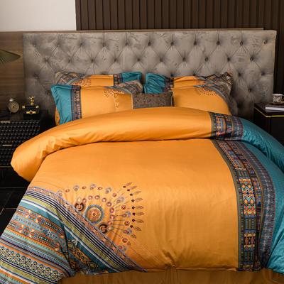 2020新款针织棉四件套 1.8m床单款四件套 格瑞斯