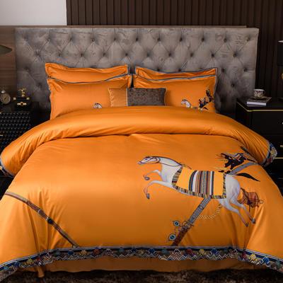 2020新款针织棉四件套 1.8m床单款四件套 罗森斯坦