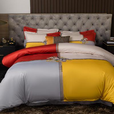 2020新款针织棉四件套 1.8m床单款四件套 盛世王朝