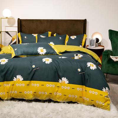 2020新款生态澳绒四件套 1.8m床单款四件套 阳光菊