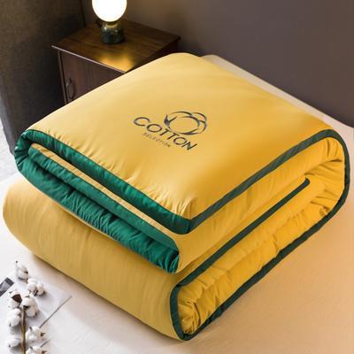2020新款新概念棉花被被子被芯 150*200cm  8斤 姜黄+墨绿