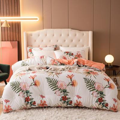 2020新款长绒棉印花冬被被子被芯 180x220cm(5斤) 邦赛花园