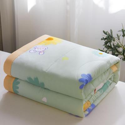 2021新款全棉健康夏被 180x200cm 甜甜圈-绿