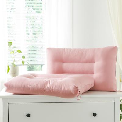 2021新款雅柔纯色单边枕头枕芯48*74cm/只 海棠红