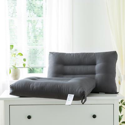 2021新款雅柔纯色单边枕头枕芯48*74cm/只 魔法灰
