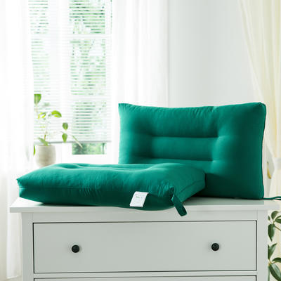 2021新款雅柔纯色单边枕头枕芯48*74cm/只 莫奈绿