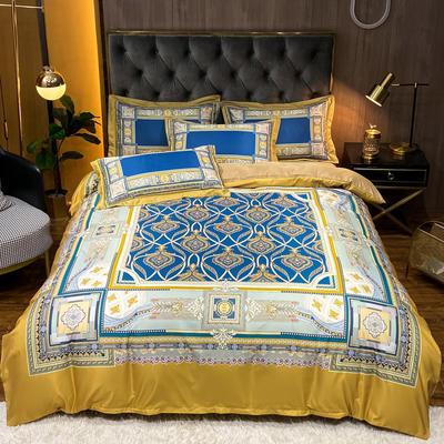 2021新款江南丝绸大版四件套 1.8m床单款四件套 宝石兰