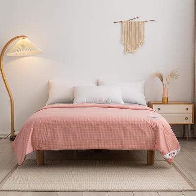 2021新款无印良品针织凉感夏被 200X230cm 粉色