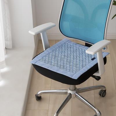 2021新款冰丝透气坐垫 标准/个 格子蓝