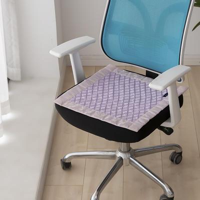 2021新款冰丝透气坐垫 标准/个 格子紫